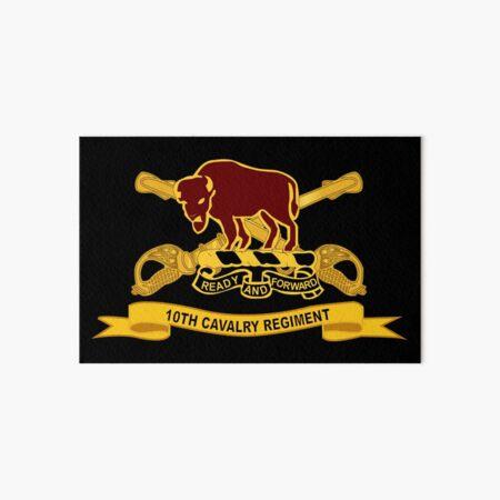 Army  - 10th Cavalry Regiment w Br - Ribbon Art Board Print