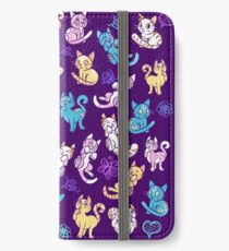 Colourful Kitty cat pattern iPhone Wallet/Case/Skin