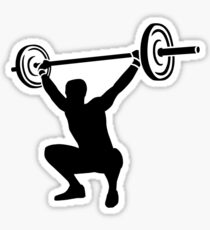 Weightlifting sports Sticker