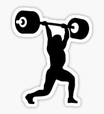 Weightlifting weightlifter Sticker