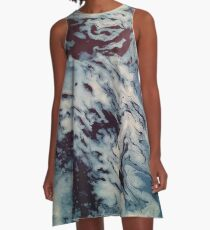 Ocean Wishy Washy A-Line Dress
