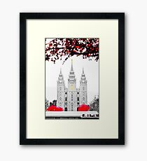 Christmas at Temple Square Framed Print