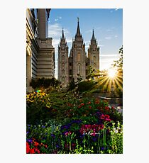 Starburst SLC LDS Temple Photographic Print