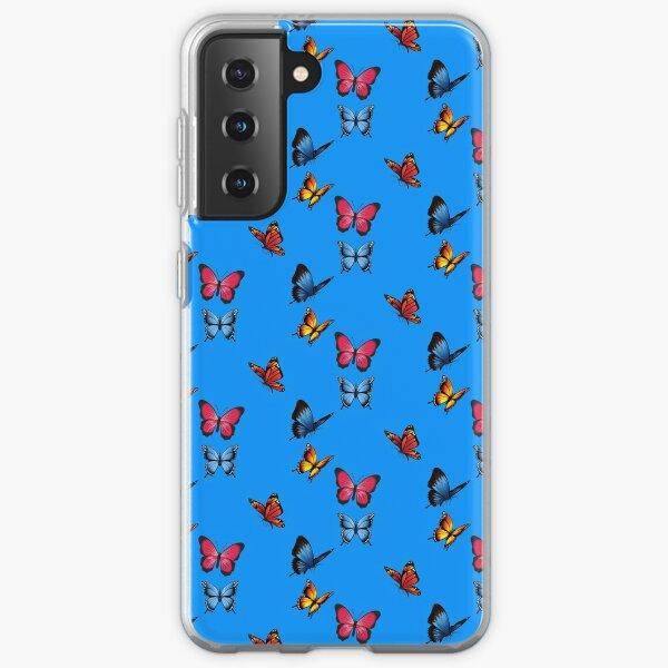 Cute Butterfly Pattern- Lovely Samsung Galaxy Soft Case