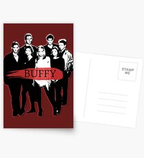 BTVS CAST (S3): The Scoobies! Postcards