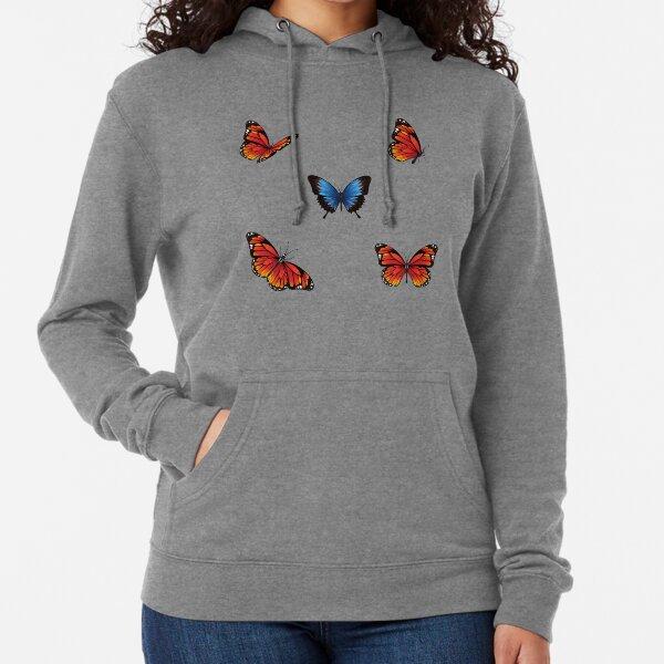 Cute Butterfly Pattern- Lovely Lightweight Hoodie