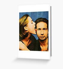 Gillian licks David's face Greeting Card