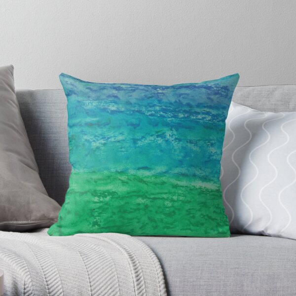 Horizon and blue wind Throw Pillow