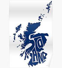 Scotland Blue Poster