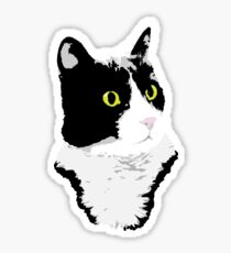 Regal Tuxedo Kitty Sticker