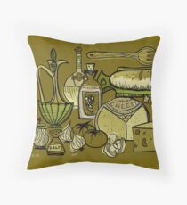 In The Mid-Century Kitchen Throw Pillow