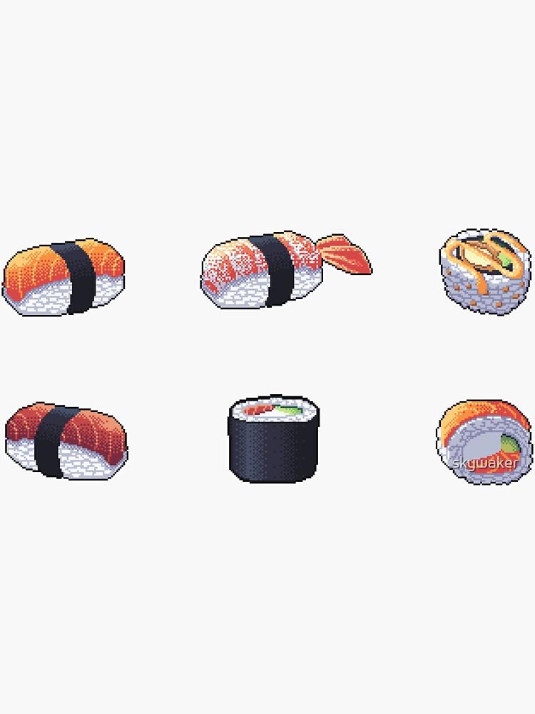 «Sushi Pixel Art» par skywaker
