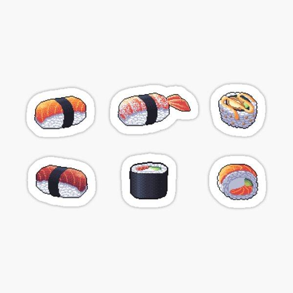 Sushi Pixel Art Pegatina