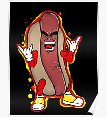 heavy metal hot dog Poster