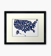 USA Blue Framed Print