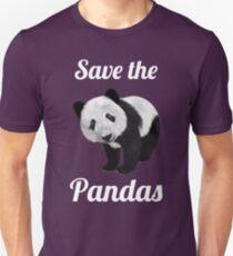 Save The PANDAS - Cute Panda   Animal Art Design Unisex T-Shirt