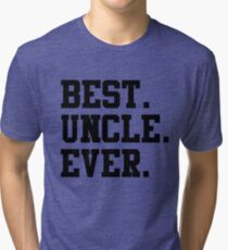 Best Papa Ever black Tri-blend T-Shirt