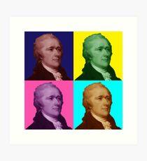 Alexander Hamilton Popart Art Print