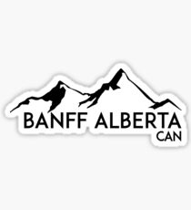 BANFF ALBERTA CANADA Skiing Ski Mountain Mountains Snowboard Boating Hiking Sticker