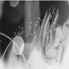 Looking Forward Self Portrait in Black & White by Anthea  Slade