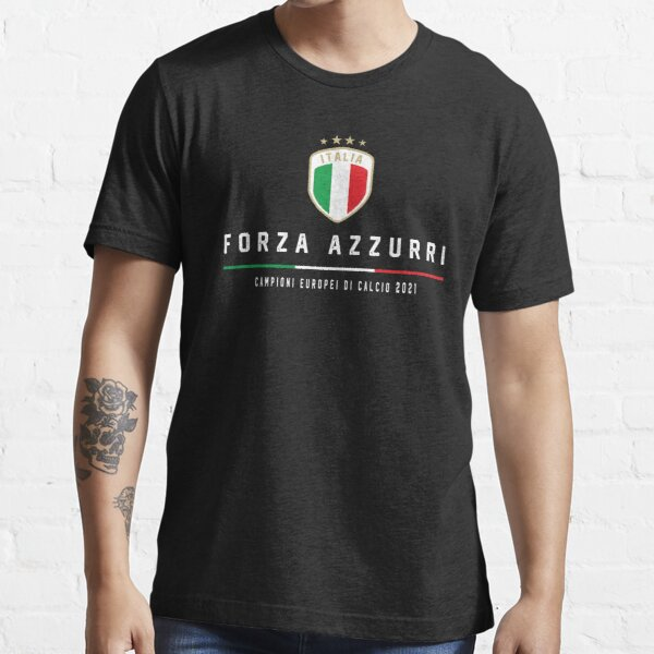 European Champions 2021 Italia flag Forza Azzurri  Essential T-Shirt