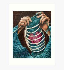 Knitted Love Art Print