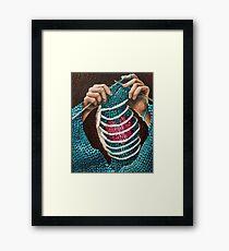 Knitted Love Framed Print