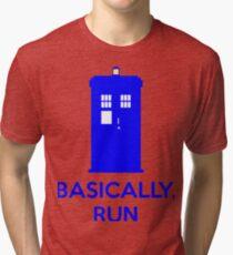 Basically, Run Tri-blend T-Shirt