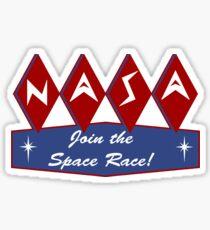 Space Race NASA Sticker