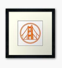 Golden Gate Golden State Framed Print
