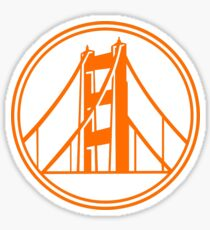 Golden Gate Golden State Sticker