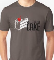 Will Test For Cake: Portal T-Shirt