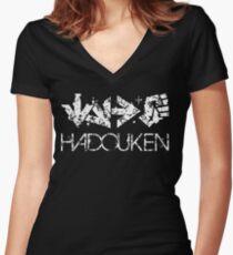Hadouken - Street Fighter 2 Women's Fitted V-Neck T-Shirt