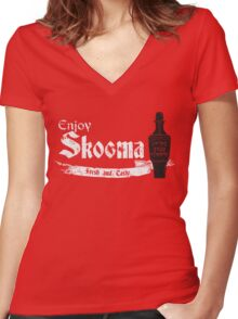 Enjoy Skooma: The Elder Scrolls Women's Fitted V-Neck T-Shirt