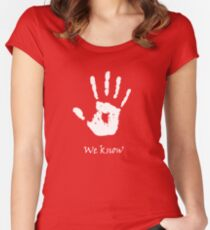 Dark Brotherhood - We Know Women's Fitted Scoop T-Shirt