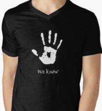 Dark Brotherhood - We Know Men's V-Neck T-Shirt