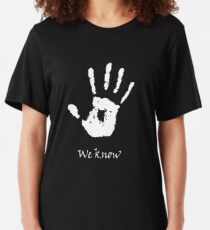 Dunkle Bruderschaft - Wir wissen es Slim Fit T-Shirt