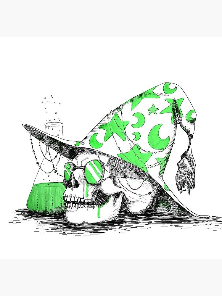 Wizard Skull by loudelf