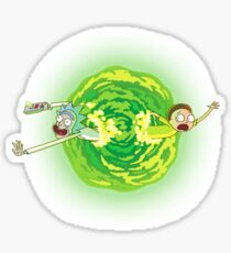 Rick and Morty Portal Jumping Sticker
