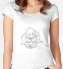 Camiseta entallada de cuello redondo Dumbo el adorable elefante