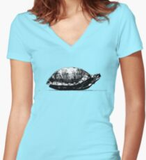 COME OUT OF YOUR SHELL Women's Fitted V-Neck T-Shirt