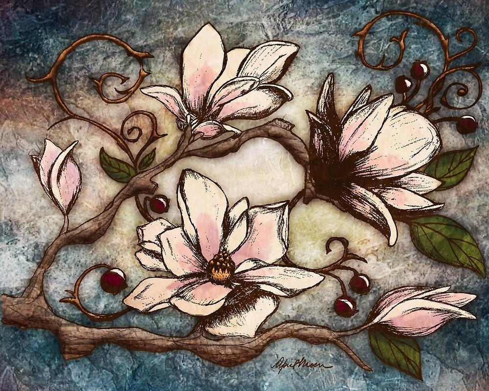 Magnolia Branch I by April  Moen