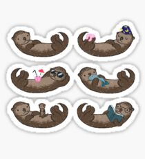 Otter-Muster Sticker
