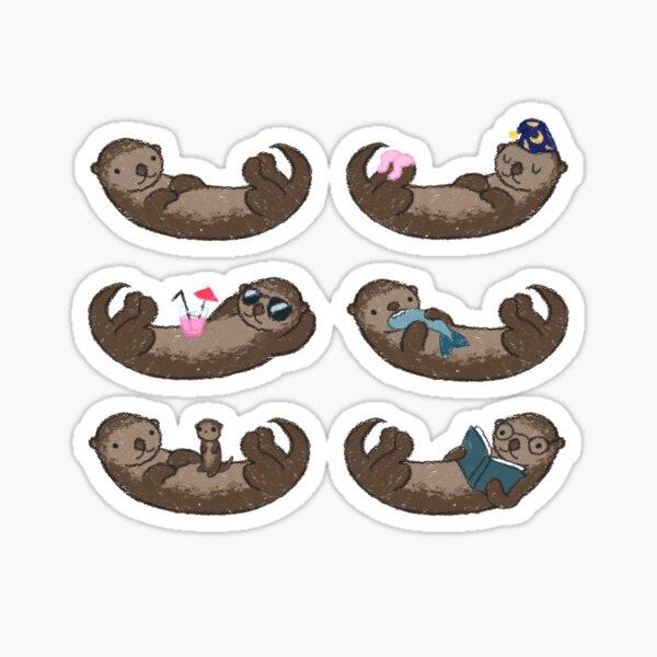 Otter Pattern Sticker