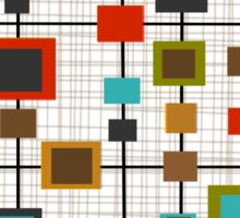 Mid-Century Abstract Squares Sticker