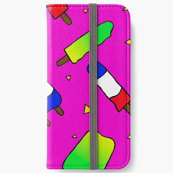 Popsicles on Pink iPhone Wallet