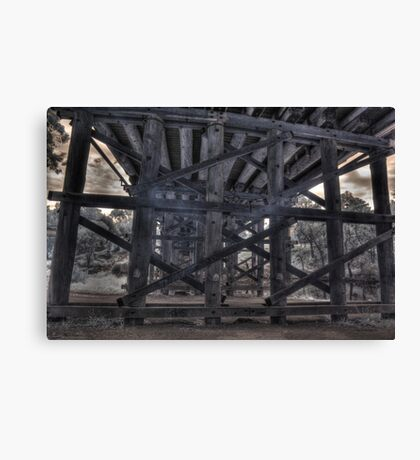 is there a troll under the bridge. IR Canvas Print