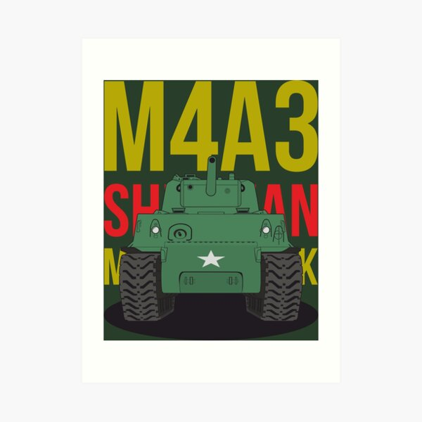 M4A3 Sherman tank of the US Army Art Print