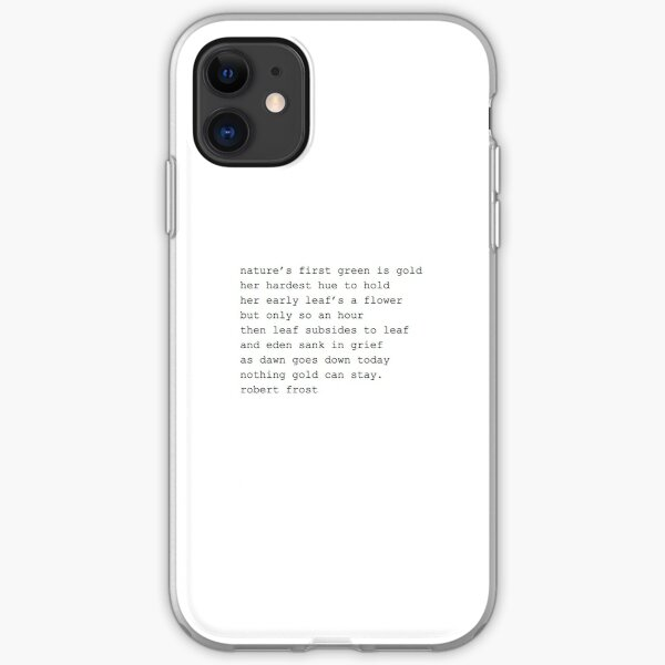 The Outsiders Poem iPhone Soft Case