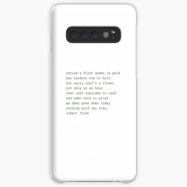 The Outsiders Poem Samsung Galaxy Snap Case